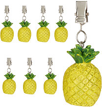 Relaxdays tablecloth weights, pineapple design,