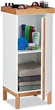 Relaxdays Tall Bathroom Cabinet with Organiser for
