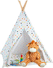 Relaxdays Teepee, Play Tent With Flooring,