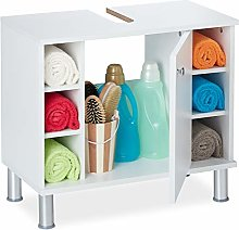 Relaxdays Under-sink cabinet, single door, 7