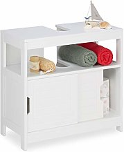 Relaxdays Under Sink Cabinet with 2 Compartments