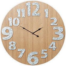 Relaxdays Wall Clock, No Ticking Noise, Modern,