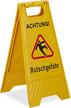 Relaxdays Wet Floor Sign, Cleaning Supplies,