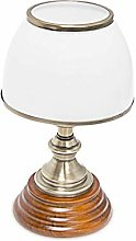 Relaxdays Wooden Art Nouveau Style Table Lamp with