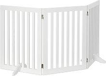 Relaxdays Wooden Safety Barrier, Adjustable Gate
