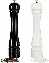 Relaxdays Wooden Spice Mills, Pepper Mill Set of