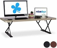 Relaxdays XXL Desk, Ergonomic Monitor Riser for