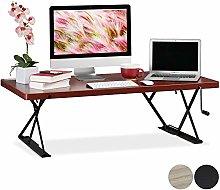 Relaxdays XXL Desk, Ergonomic Monitor Riser for