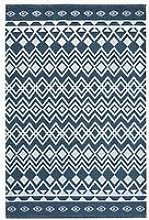 Relay Recycled Cotton Navy Rug 60X180Cm