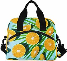 RELEESSS Fresh Fruit Orange Insulated Lunch Bag