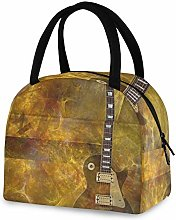RELEESSS Insulated Lunch Bag Electric Guitar Tote