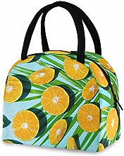 RELEESSS Insulated Lunch Bag Fresh Fruit Orange