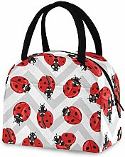 RELEESSS Insulated Lunch Bag Ladybug Tote Cool Bag