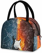 RELEESSS Insulated Lunch Bag Music Electric Guitar
