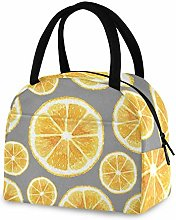RELEESSS Insulated Lunch Bag Orange Fruit Tote