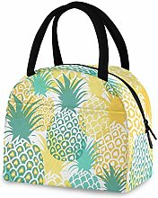RELEESSS Insulated Lunch Bag Pineapple Tote Cool
