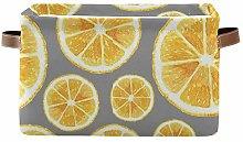 RELEESSS Orange Fruit Storage Basket Collapsible