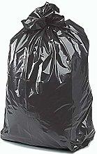 RelianceUK 50 x Black Bin Bags Heavy Duty Refuse