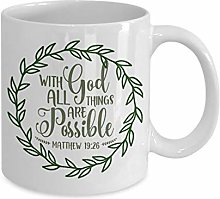 Religious Coffee Mug with god All Things are