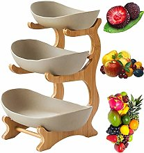 ReManda 3 Tier Fruit Bowl?Bamboo and Wood Shelf *
