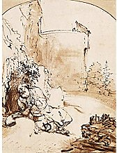 Rembrandt The Prophet Jonah Before The Walls Of