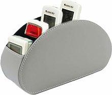 Remote Control Holder,Leather Remote Basket TV