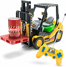 Remote controlled RC forklift truck model building