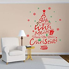 Removable Christmas Series Wall Stickers Red