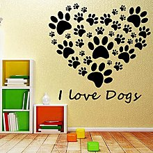 Removable I Love Dogs Vinyl Self Adhesive