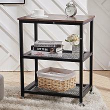 Removable Mesh Industrial End Side Table Desk