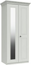 Rendlesham 2 Door Mirror Wardrobe - White