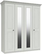 Rendlesham 4 Door 2 Mirror Wardrobe - White