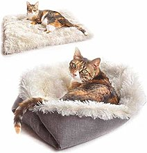 RENFEIYUAN Soft Pet Bed for Cats and Small Medium