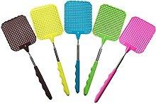 RENNICOCO 1PC Random Color Plastic Extendable Fly