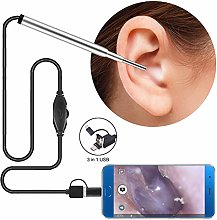 RENNICOCO 3.9mm Lens 720P HD Otoscope with 6 LED