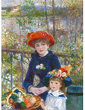 Renoir Two Sisters On The Terrace Large Wall Art