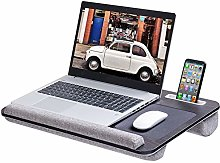Rentliv Oversized Laptop Lap Desk with Cushion and