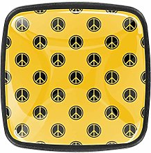 Repeat Geometric Yellow Bathroom Cabinet Knobs