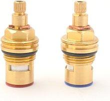 Replacement Brass ceramic disc tap valve quarter