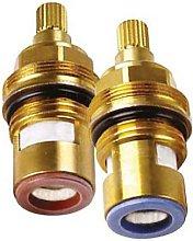 Replacement brass ceramic tap disc quarter turn