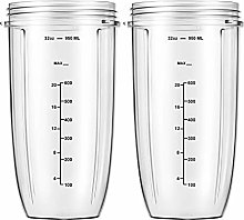 Replacement Parts 32oz Blender Cups (2 Packs)