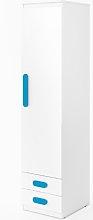 Replay 1 Door Wardrobe Symple Stuff Colour: Blue
