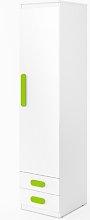 Replay 1 Door Wardrobe Symple Stuff Colour: Green