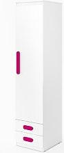 Replay 1 Door Wardrobe Symple Stuff Colour: Pink