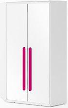 Replay 2 Door Corner Wardrobe Symple Stuff Colour: