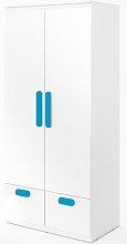 Replay 2 Door Wardrobe Symple Stuff Colour: Blue