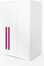 Replay 2 Door Wardrobe Symple Stuff Colour: Pink