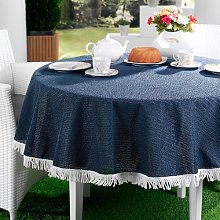 Replay Tablecloth August Grove Colour: Dark Blue,
