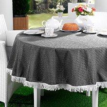 Replay Tablecloth August Grove Colour: Dark Grey,