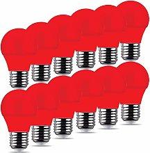 REPSN® 12 x Red LED 4W Golf G45 Bulb,E27 ES Cap